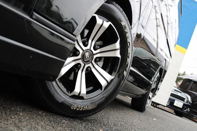GOOD YEAR NASCARタイヤは安心のグリップ力です! | トヨタ ハイエースバン 2.0 スーパーGL ダークプライム ロングボディ