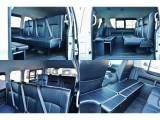 シートアレンジSTです!座り心地の良いレザー調ベンチシートです!ロングスライドレール搭載なのでシートをずらして広大な荷室になります!