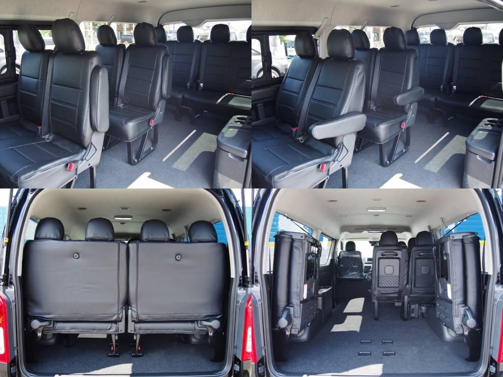 広い荷室に10人乗り座席を搭載したワゴンGL!高級感のあるレザー調シートカバー施工済み! | トヨタ ハイエース 2.7 GL ロング ミドルルーフ TSS付