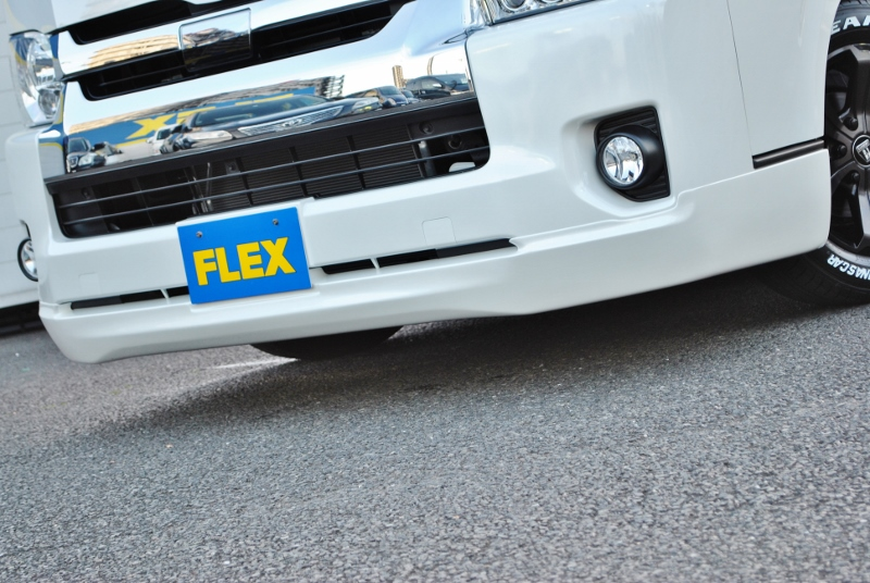 フロントスポイラー415コブラ クリーンルック3装着♪ | トヨタ ハイエース 2.7 GL ロング ミドルルーフ TSS付き