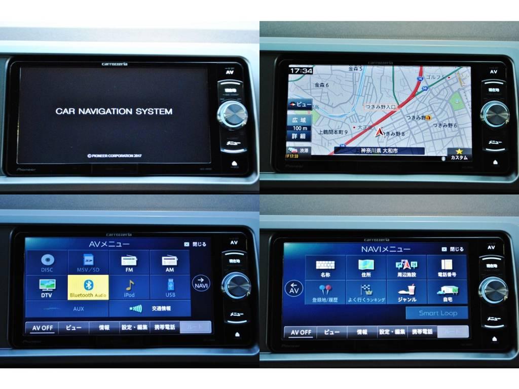 操作しやすいカロッツェリア製SDナビ♪ | トヨタ ハイエース 2.7 GL ロング ミドルルーフ TSS付き