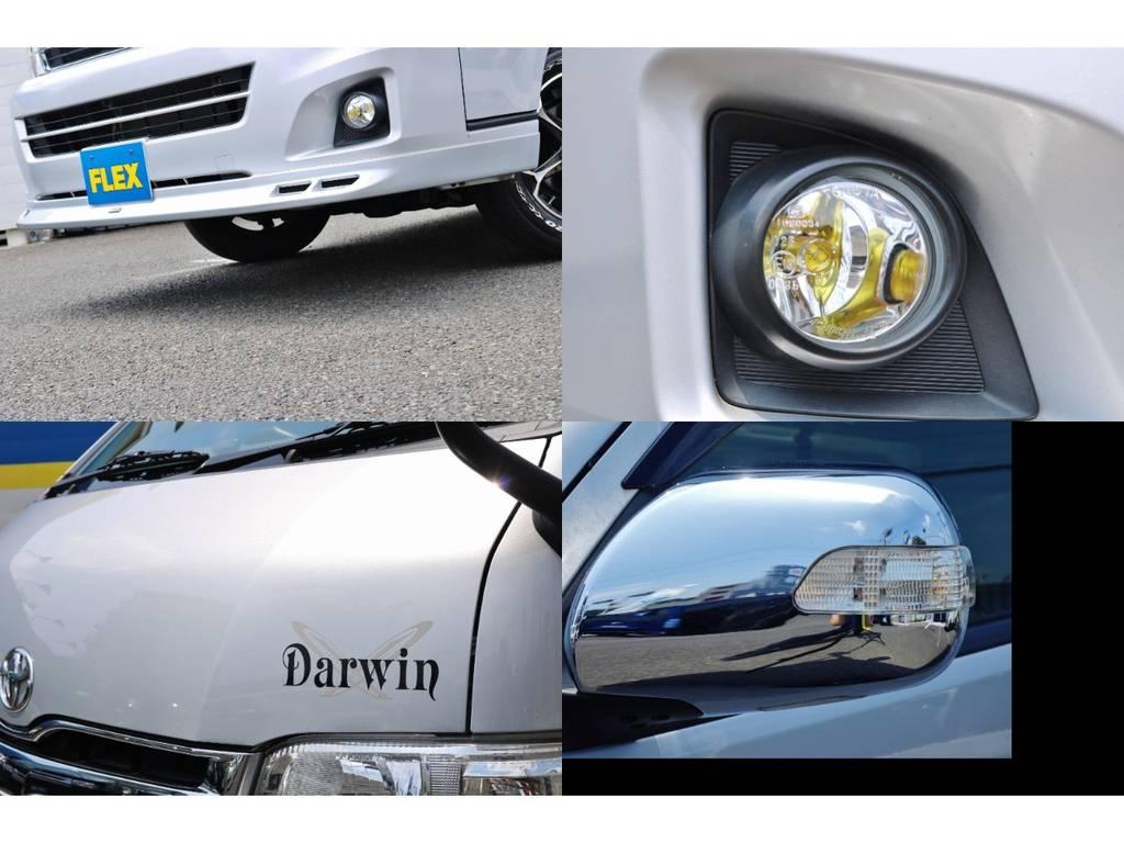 カスタムも忘れずに♪その他写真はGooで掲載中⇒https://www.goo-net.com/usedcar/spread/goo/13/975018081300560956001.html | トヨタ ハイエースバン 2.7 DX ワイド スーパーロング ハイルーフ GLパッケージ 4WD キャンピング デルタリンク製ダーウィン