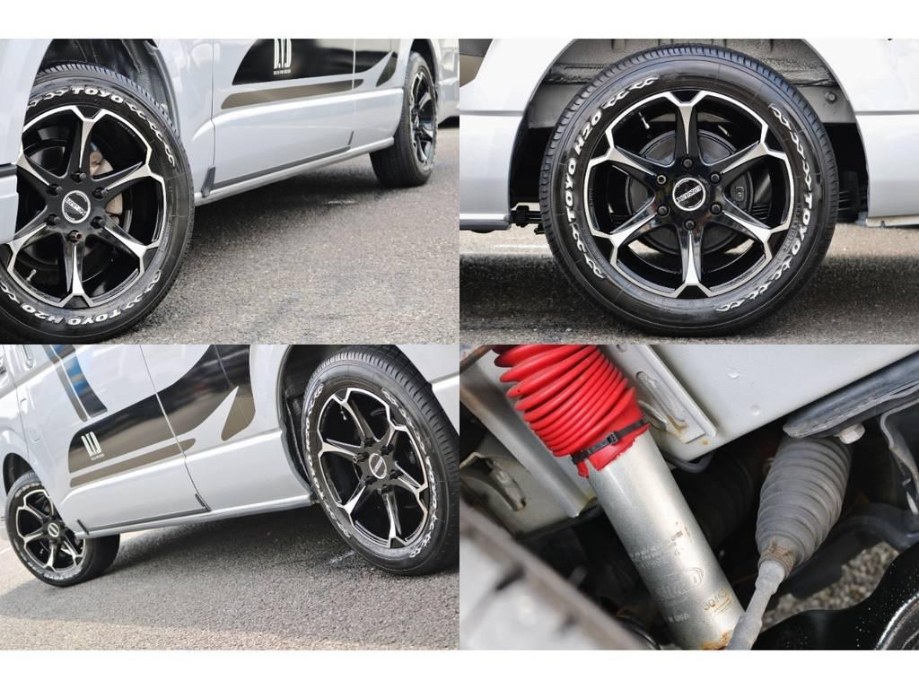 足廻りはカスタム&ショック交換で乗り心地も快適♪https://www.goo-net.com/usedcar/spread/goo/13/975018081300560956001.html | トヨタ ハイエースバン 2.7 DX ワイド スーパーロング ハイルーフ GLパッケージ 4WD キャンピング デルタリンク製ダーウィン