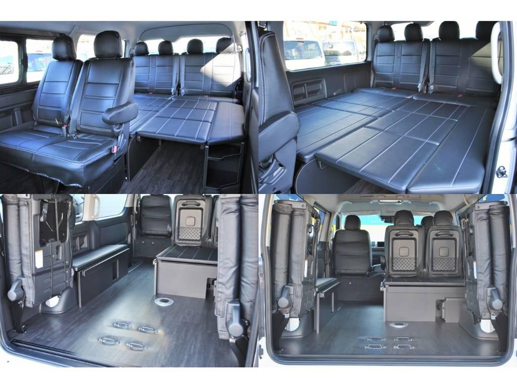 ベットのパネルは外すことができるので車の使い方の幅が広がります! | トヨタ ハイエース 2.7 GL ロング ミドルルーフ 4WD TSS付シートアレンジR1