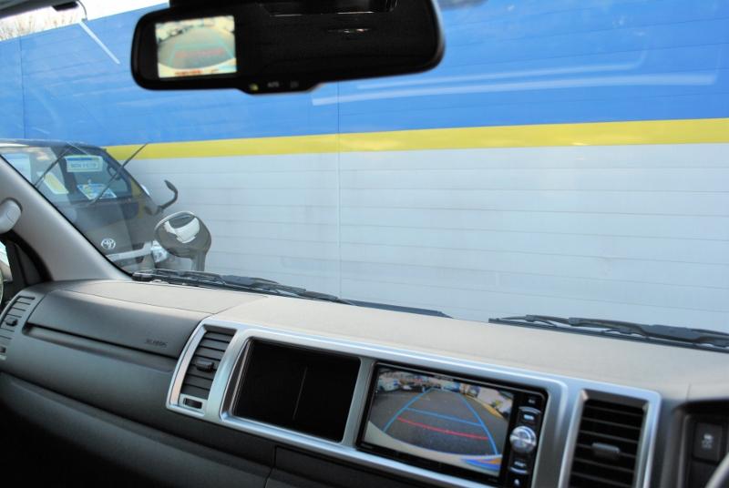バックカメラはナビと連動させています! | トヨタ ハイエース 2.7 GL ロング ミドルルーフ 4WD TSS付シートアレンジR1
