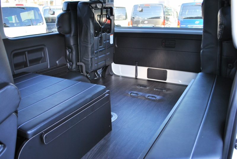荷室が広いのでたくさん荷物が積めます! | トヨタ ハイエース 2.7 GL ロング ミドルルーフ 4WD TSS付シートアレンジR1