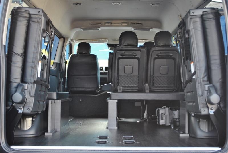 パネルを外せば荷室が広がります♪   トヨタ ハイエース 2.7 GL ロング ミドルルーフ セーフティー付き Ver1施工