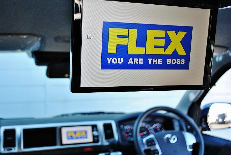フリップダウンモニター付きなのでドライブも飽きません♪ | トヨタ ハイエース 2.7 GL ロング ミドルルーフ TSS付 ナビパッケージ