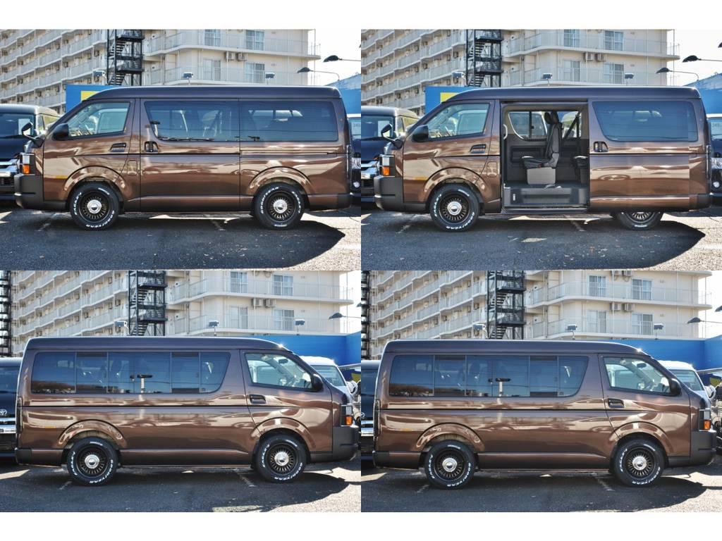 美しいオークブラウンパールです♪   トヨタ ハイエース 2.7 GL ロング ミドルルーフ 4WD クラシックリノカ オークブラウンパール