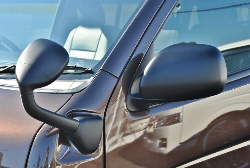ドアミラー、ドアノブ、ガーニッシュは統一してマッドブラック塗装済みです! | トヨタ ハイエース 2.7 GL ロング ミドルルーフ 4WD クラシックリノカ オークブラウンパール