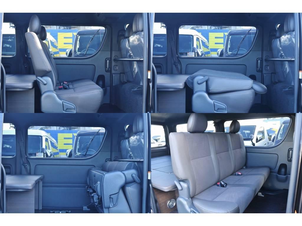 アレンジしやすいセカンドシート♪   トヨタ ハイエースバン 2.0 スーパーGL 50TH アニバーサリー リミテッド ロングボディ パワスラ付 Ver4ベットキット