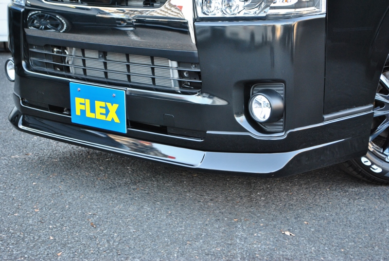 フレックスデルフィーノラインフロントスポイラー! | トヨタ ハイエースバン 2.0 スーパーGL ダークプライムⅡ ロングボディ PS無 ARRANGE FU-N