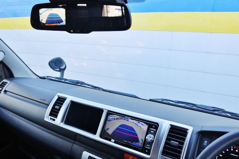 ナビと連動させて頂いております♪ | トヨタ ハイエース 2.7 GL ロング ミドルルーフ TSS付 シートアレンジ AS