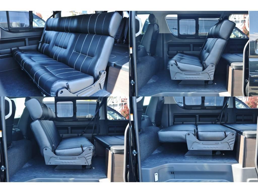 セカンドシートはアレンジ多彩♪ | トヨタ ハイエース 2.7 GL ロング ミドルルーフ TSS付 シートアレンジ AS