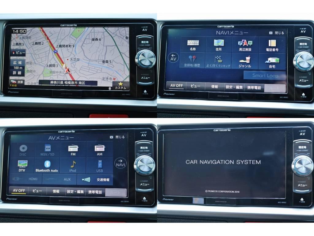 操作しやすいカロッツェリア製SDナビ♪ | トヨタ ハイエース 2.7 GL ロング ミドルルーフ TSS付 シートアレンジ AS
