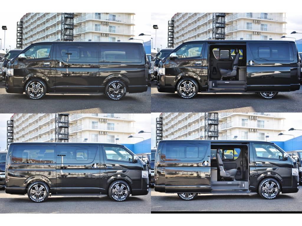 両側スライドドアの小窓付きです♪ | トヨタ ハイエースバン 2.8 スーパーGL ダークプライムⅡ ロングボディ ディーゼルターボ 4WD Ver4 小窓あり