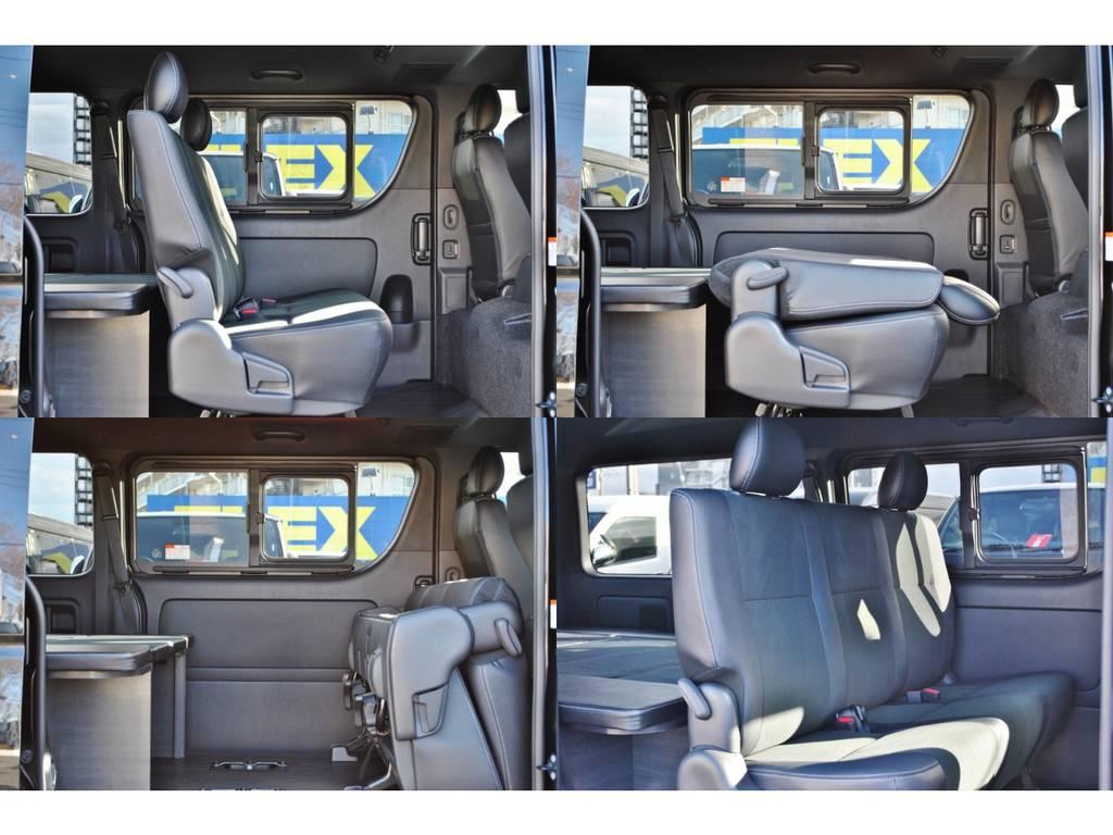 2列目は折りたためるので荷室が広がります♪ | トヨタ ハイエースバン 2.8 スーパーGL ダークプライムⅡ ロングボディ ディーゼルターボ 4WD Ver4 小窓あり