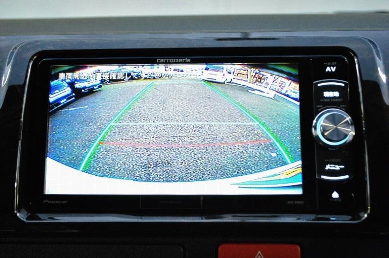 夜間も安心のバックカメラ連動済み! | トヨタ ハイエースバン 2.8 スーパーGL ダークプライムⅡ ロングボディ ディーゼルターボ 4WD 小窓付き