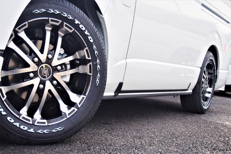 アルミホイールの交換等もご相談ください。 | トヨタ ハイエース 2.7 GL ロング ファインテックツアラー 4WD 4WDファインテックツアラー