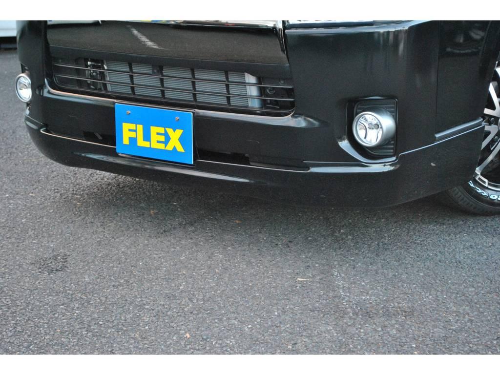 415コブラ CL3フロントスポイラー付いてます♪ | トヨタ ハイエースバン 2.8 スーパーGL 50TH アニバーサリー リミテッド ロングボディ ディーゼルターボ 4WD TSS付 パワスラ付き