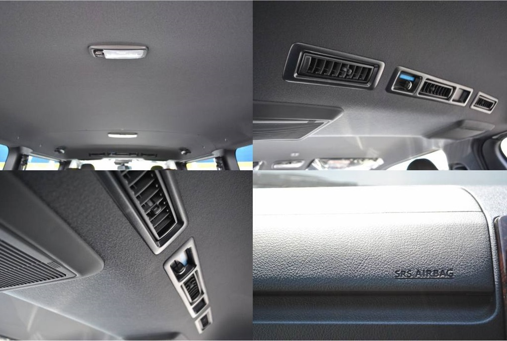 天井はシックな黒で統一されてます♪ | トヨタ ハイエースバン 2.8 スーパーGL 50TH アニバーサリー リミテッド ロングボディ ディーゼルターボ 4WD TSS付 パワスラ付き