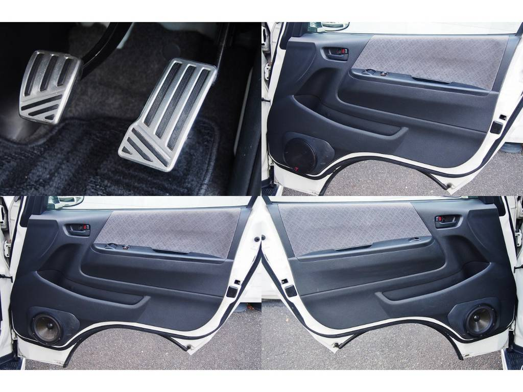 運転席、助手席のドアスピーカーはアンプに合わせて交換済み♪ | トヨタ ハイエースバン 2.0 スーパーGL ロング 極カスタム