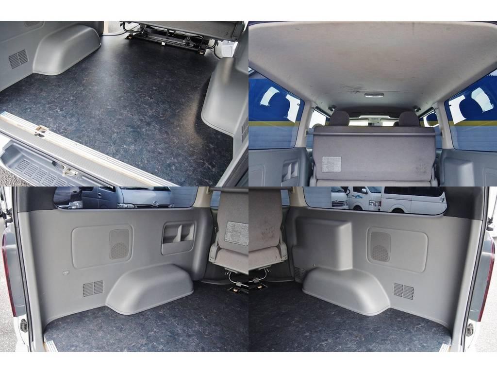 荷室は床貼りで掃除も楽々です♪ | トヨタ ハイエースバン 2.0 スーパーGL ロング 極カスタム