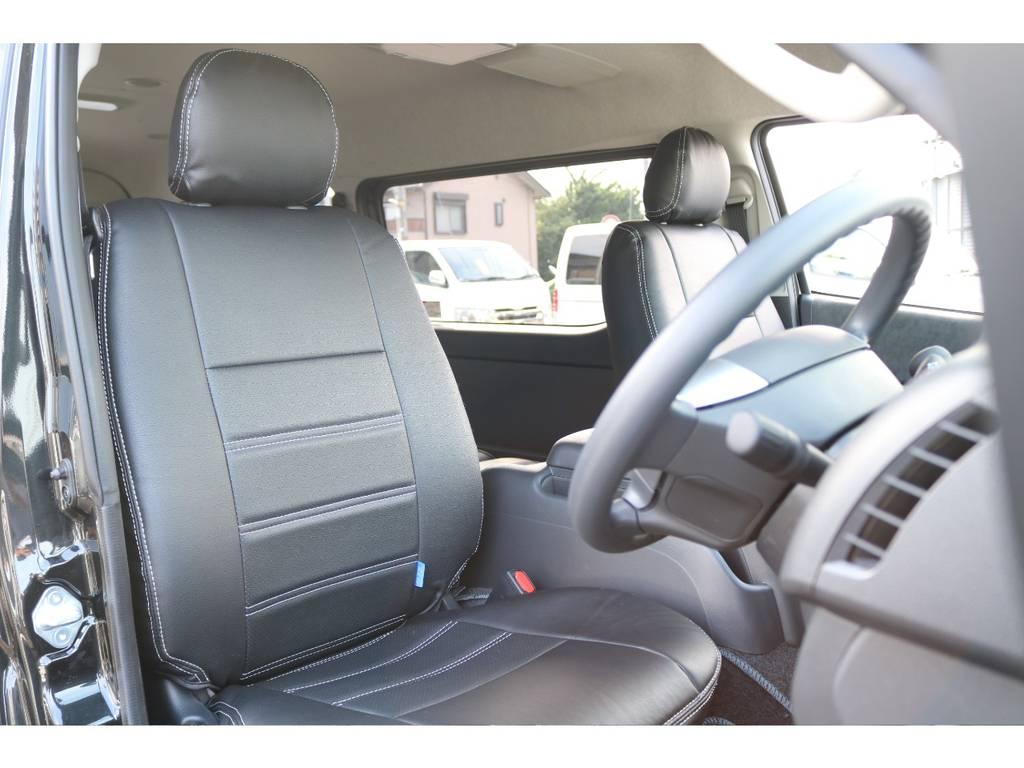 シートカバー付きなのでお手入れも楽です! | トヨタ ハイエース 2.7 GL ロング ミドルルーフ 4WD セーフティー付き ナビ・エアロPKG