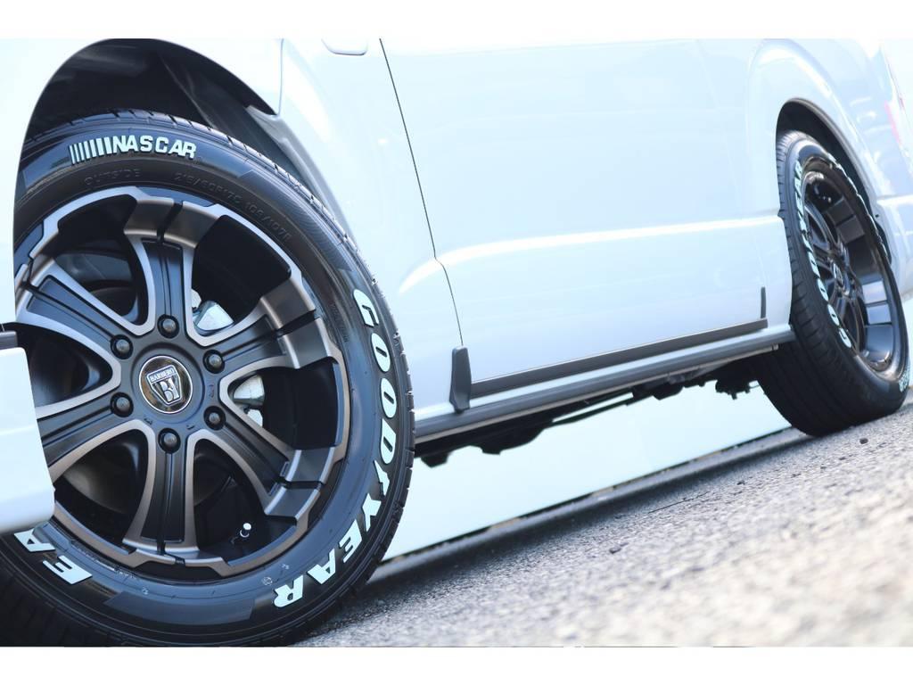 バルベロ ディープス 17インチ&GOODYEAR NASCARの組み合わせ! | トヨタ ハイエース 2.7 GL ロング ミドルルーフ 4WD セーフティー付き ナビ・エアロPKG