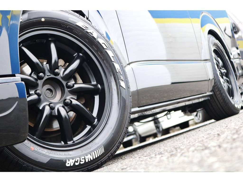 ホワイトレターがおしゃれなGOODYEAR NASCARタイヤ! | トヨタ ハイエースバン 2.0 スーパーGL ロング エアロ ローダウン アルミ