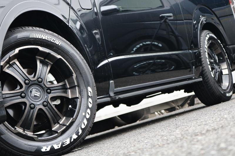 バルベロ ディープス 17インチ&GOODYEAR NASCARの組み合わせ! | トヨタ ハイエース 2.7 GL ロング ミドルルーフ 4WD 現行ハイエースワゴン 4WD 車検付き
