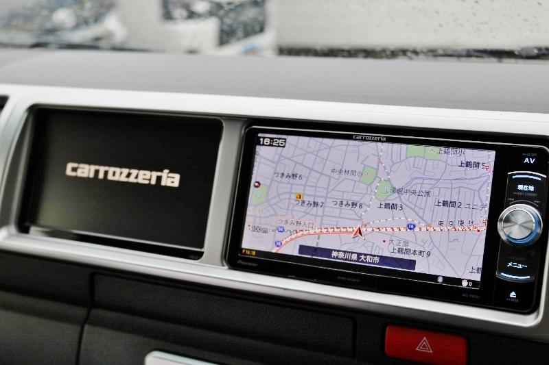 カロッツェリア製サブモニター付き! | トヨタ ハイエース 2.7 GL ロング ミドルルーフ 4WD 現行ハイエースワゴン 4WD 車検付き