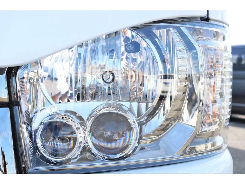 メーカーオプションのLEDヘッドランプ♪   トヨタ ハイエースバン 2.8 スーパーGL ダークプライムⅡ ロングボディ ディーゼルターボ 特別仕様車 コブラフルエアロ