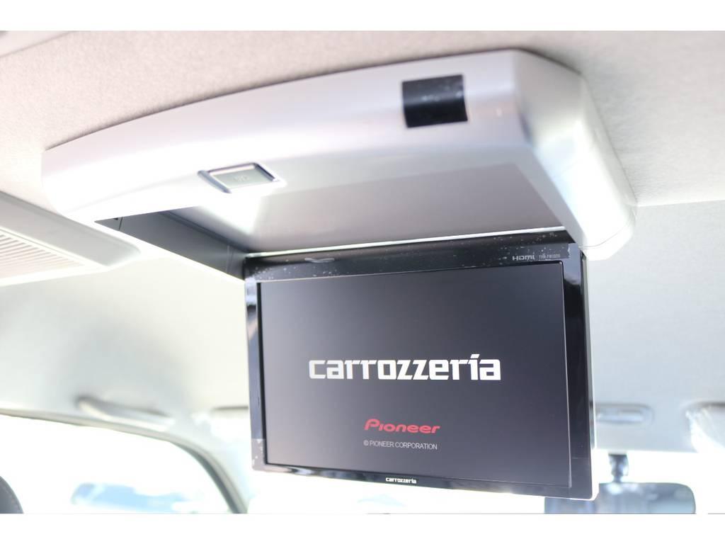 ロングドライブも飽きないフリップダウンモニター付き! | トヨタ ハイエース 2.7 GL ロング ファインテックツアラー 4WD キャプテンシート装着ファインテックツアラ