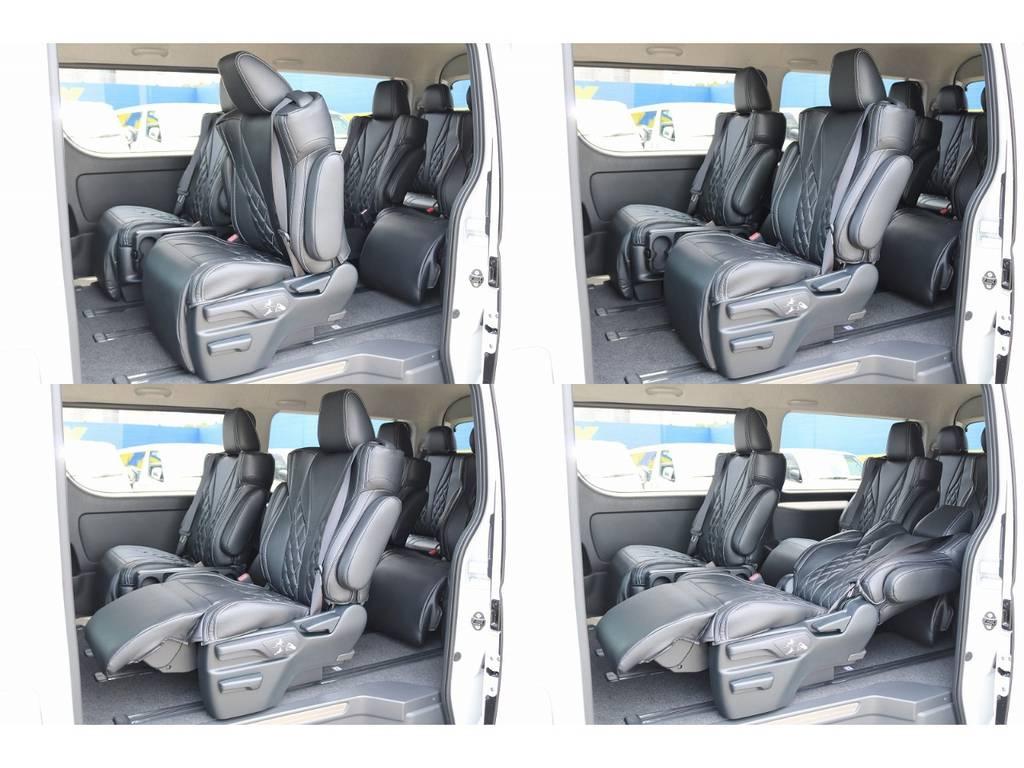 4脚がキャプテンシートなのでオットマンが使えます! | トヨタ ハイエース 2.7 GL ロング ファインテックツアラー 4WD キャプテンシート装着ファインテックツアラ