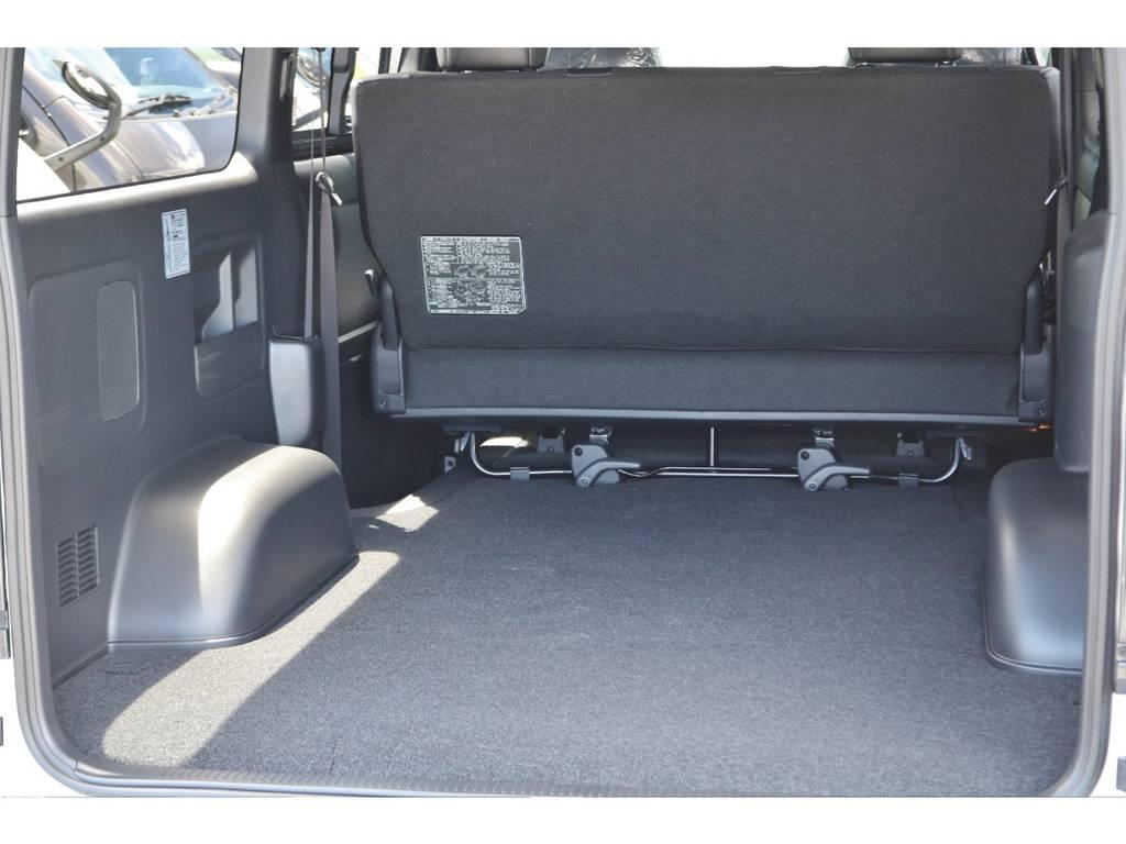 トランクも広いのでアレンジをしたり、お荷物もたくさん積めます! | トヨタ ハイエースバン 2.0 スーパーGL ダークプライムⅡ ロングボディ 小窓付き