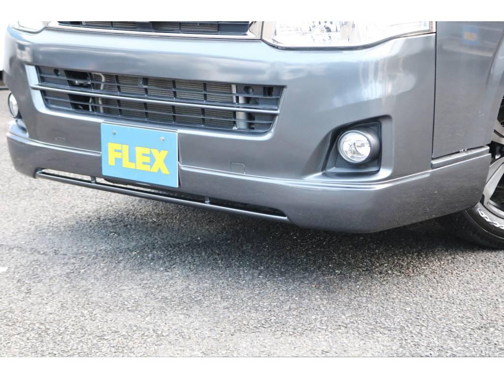新品のフロントスポイラー付き!   トヨタ ハイエースバン 2.0 スーパーGL ロング グレー ナビPKG