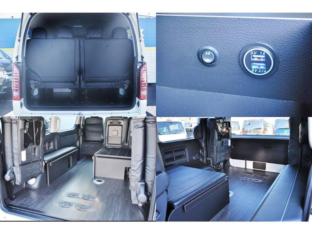 フロア施工やUSBコネクタが付くなどの豪華な仕様♪   トヨタ ハイエース 2.7 GL ロング ミドルルーフ TSS付 ベットキットアレンジR1