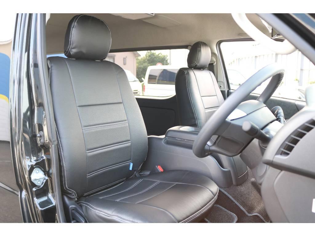 シートカバー付いてます♪ | トヨタ ハイエース 2.7 GL ロング ミドルルーフ セーフティー付き Ver2内装施工カスタ