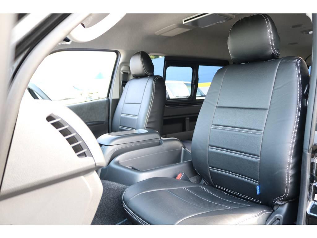広々としたコクピット! | トヨタ ハイエース 2.7 GL ロング ミドルルーフ セーフティー付き Ver2内装施工カスタ
