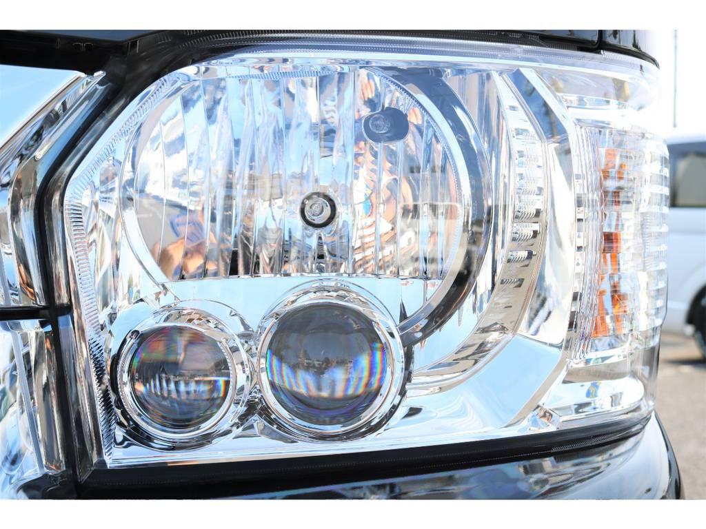 メーカーオプションのLEDヘッドランプ♪ | トヨタ ハイエース 2.7 GL ロング ミドルルーフ セーフティー付き Ver2内装施工カスタ