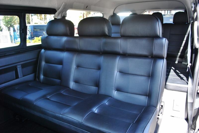 セカンドシートは3人掛けシートに変更しております! | トヨタ ハイエース 2.7 GL ロング ミドルルーフ セーフティー付き Ver2内装カスタム