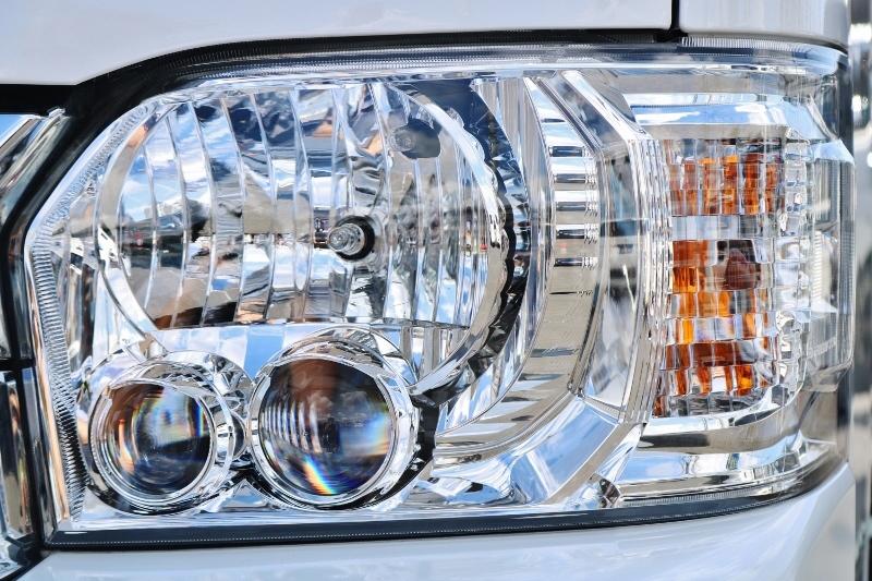 メーカーオプションのLEDヘッドランプ♪ | トヨタ ハイエースバン 2.8 スーパーGL ダークプライムⅡ ロングボディ ディーゼルターボ