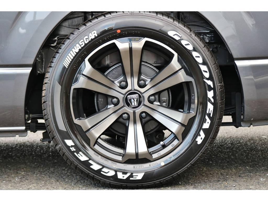 オリジナルカラー バルベロアーバン17インチ&ナスカーの組み合わせ! | トヨタ ハイエースバン 2.0 スーパーGL ダークプライム ロングボディ