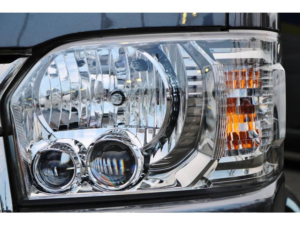 LEDヘッドライトで夜間も明るいです! | トヨタ ハイエースバン 2.0 スーパーGL ダークプライム ロングボディ
