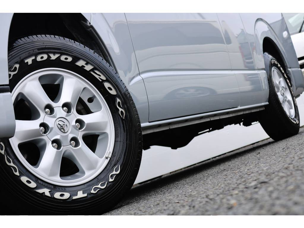 TOYO H20タイヤはいてます♪ | トヨタ ハイエースバン 2.7 DX ワイド スーパーロング ハイルーフ GLパッケージ 4WD 4WD ベット キャリア ヒッチカーゴ