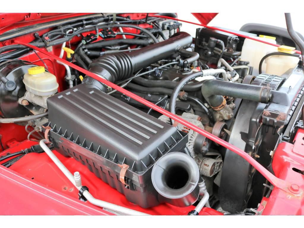 ご覧の通り綺麗なエンジンルーム☆別途安心メンテナンスパックもご用意しております。詳細はお気軽に担当スタッフまで♪   ジープ ラングラー スポーツ ソフトトップ 4WD