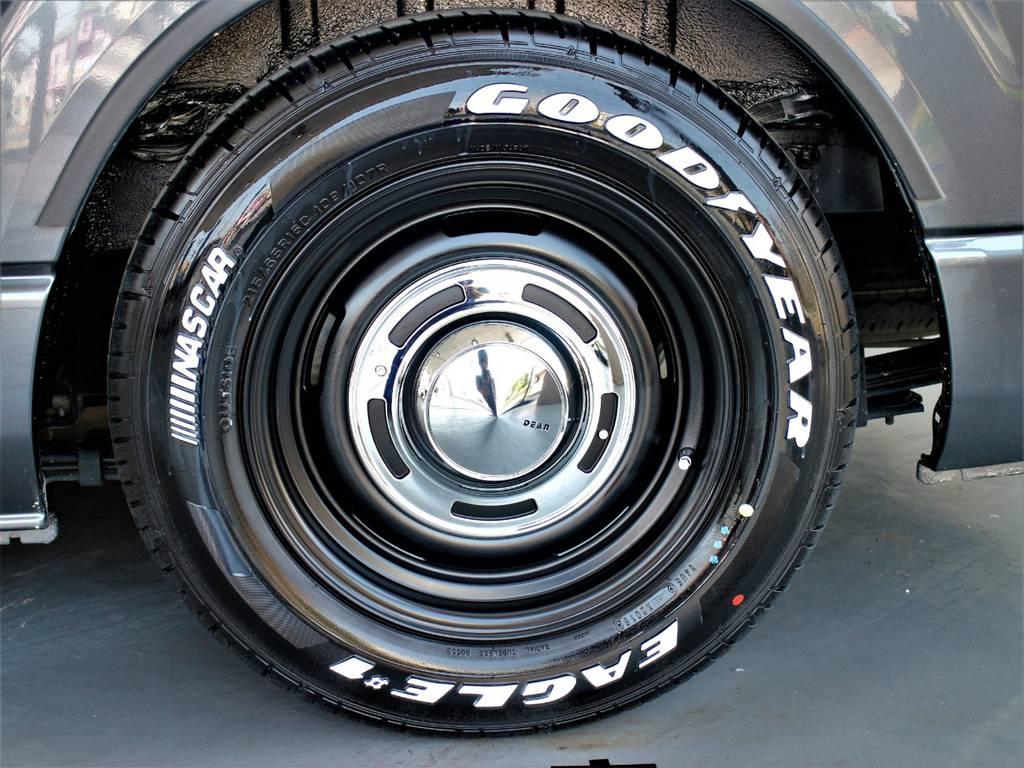 ディーンクロスカントリー16インチアルミホイール! グッドイヤーイーグルナスカータイヤ! | トヨタ レジアスエース 2.7 スーパーGL ワイド ミドルルーフ ロングボディ 4WD
