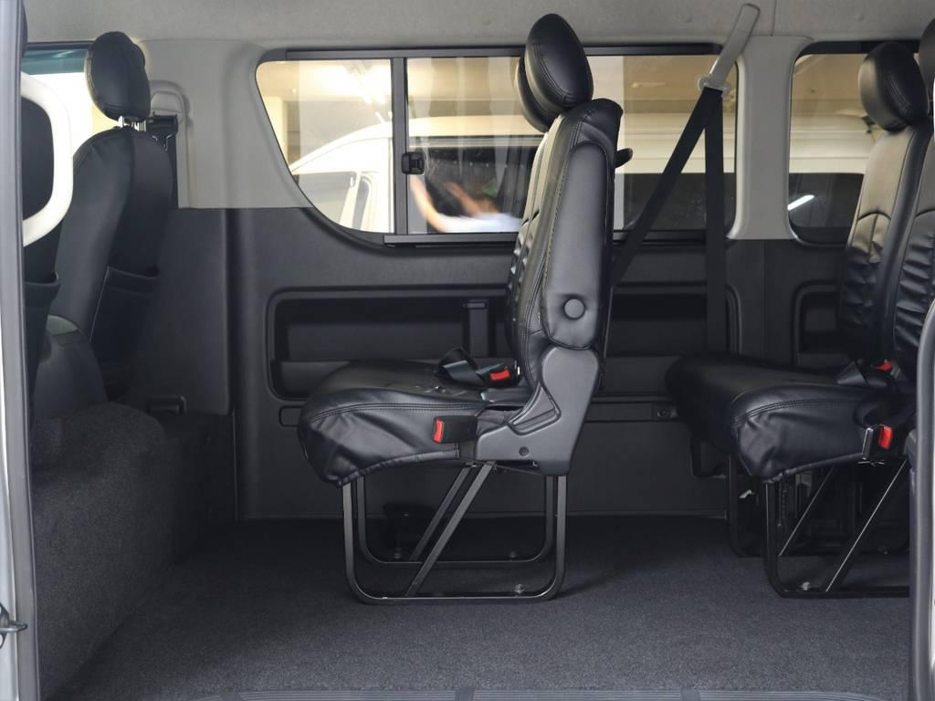 2ndポジションも広々!!   トヨタ ハイエース 2.7 GL ロング ミドルルーフ 4WD 新品20inDelf01 新品煌テール