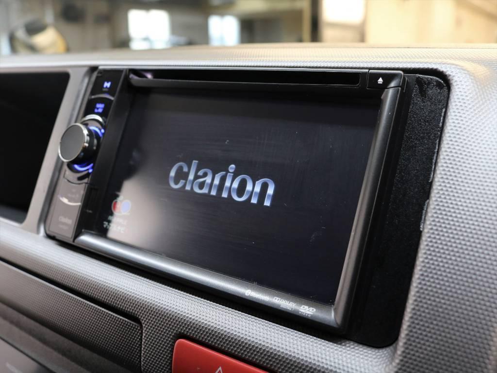 【clarion ナビ】装備!!   トヨタ ハイエース 2.7 GL ロング ミドルルーフ 4WD 新品20inDelf01 新品煌テール